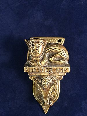 Vintage All Brass Chester Imp Door Knocker