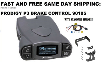 P3 Electronic Brake Control by Tekonsha - 90195 with STANDRAD Harness
