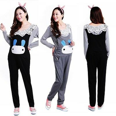 New Women Pregnant Overalls Maternity Suspenders Trousers Rabbit Jumpsuits Pants