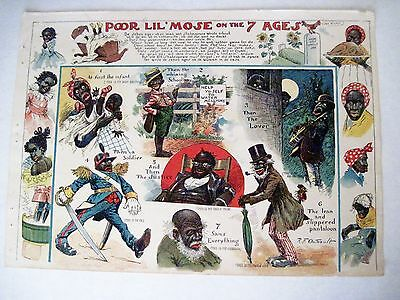 "Vintage 1902 Black Americana - Page From Book ""Pore Lil Mose"" by R.F. Outcault *"