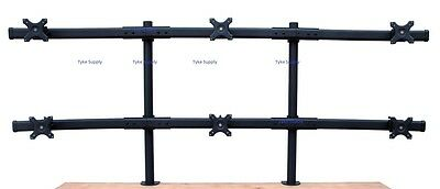 Hex Six Monitor Stand up to six 32 inch monitors Free Same Day Shipping