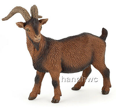 Papo 51162 Brown Billy Goat Farm Animal Figurine Model Toy Play - NIP