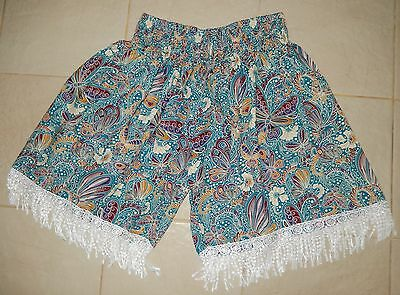 1D237 LADIES SHIRRED WAIST BEACH SHORTS / PANTS plus size 24 , 26 , 28 NEW TAGS