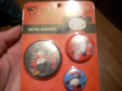 Pucca Metal Badges Offical Japanese CYP imports Set of 3 OEM Original