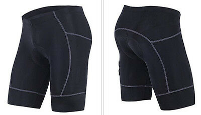 Men's Black Bicycle Cycling Bike Short Comfortable Pants Gel 3D Padded Coolmax