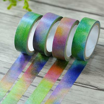 15mm x 5M Gradient Color Universe Cosmos Space Print Washi tape 1pc