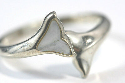 B754 Whale Tail Sterling 3.5g 925 Ring size 11 or bigger adjusts