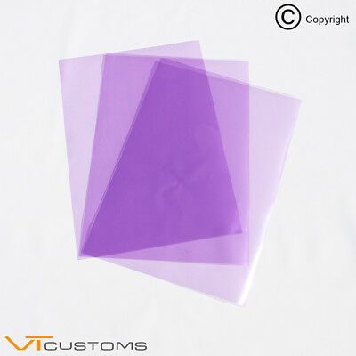3 x A5 sheets - Purple Headlight Film for Fog Lights Tint Smoke Car Vinyl Wrap