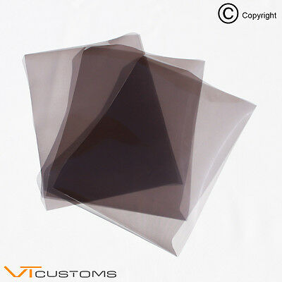 3 x A5 sheets Light Smoke Headlight Film for Fog Lights Tint Car Vinyl Wrap