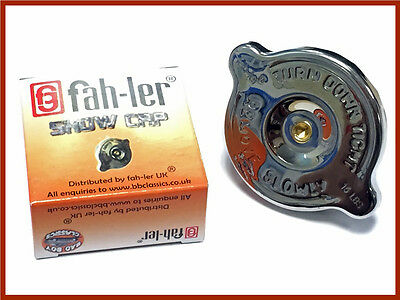 Fahler Polished Stainless Steel Radiator Rad Cap 4 lbs Long Reach Morris Minor