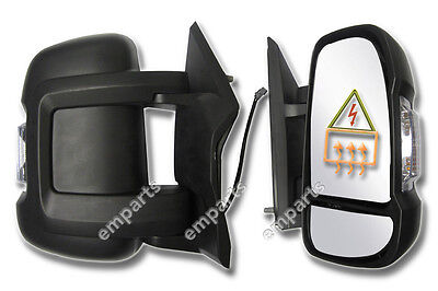 Citroen Relay Full Door Wing Mirror ELECTRIC HEATED Short Arm Right O/S 2006 On