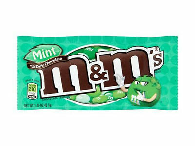 M & M's Mint Dark Chocolate Packet - Direct From USA