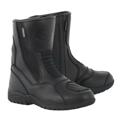 Oxford Hunter Men's Short Leather Touring Cruiser Motorcycle Bike Boots Black