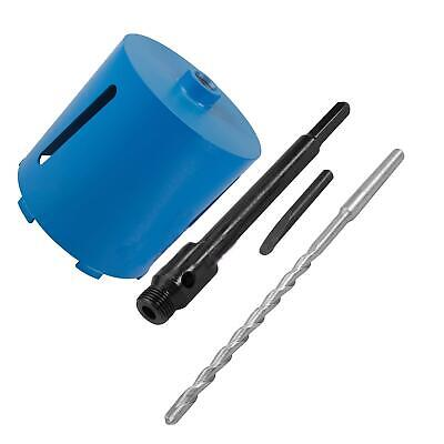 New 152mm x 150mm Diamond Core Hole Saw with Hex Arbor & Pilot Hole Drill Brick