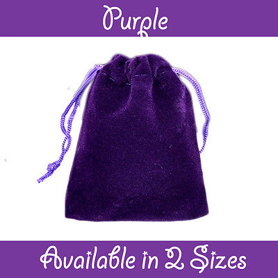 Purple Velvet Gift Pouches Wedding Favour Bags Jewellery Pouch In 3 Sizes