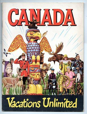 CANADA VACATIONS UNLIMITED 1949 Canadian Government Travel Bureau BROCHURE