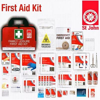 ST JOHN First Aid Kit Bag Medical Emergency Workplace Safety Travel 135 Pieces
