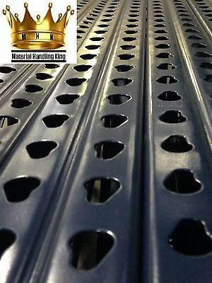 Teardrop Pallet Rack Storage Uprights - 96'' x 36''