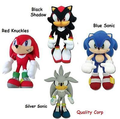 "8"" The Sonic Hedge Hog - Red Knuckles,Black Shadow Silver/Blue Sonic Plush NEW"