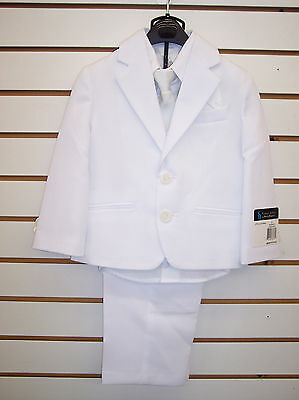 Toddler/Boys Young Kings By Steve Harvey $110-$140 All White 5pc Suit Size 2T-18