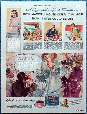 1941 Maxwell House Coffee Ellen Terry Visited Old Maxwell House Hotel 1896 ad