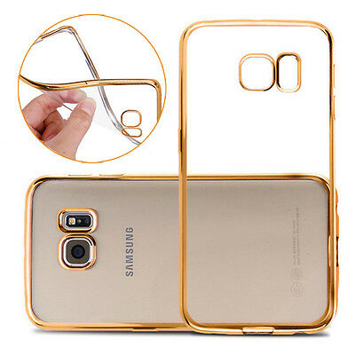 Newest Plating Silicone Phone Case Cover For Samsung Galaxy S6 S7 edge + Series