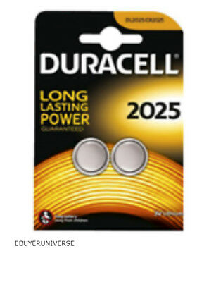 4 x Duracell CR2025 3V Lithium Coin Cell Battery - Expiry 2024