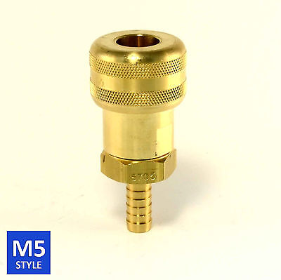 Foster 5 Series Brass Quick Coupler 1/2 Body 3/8 Hose Barb Air Water Fittings