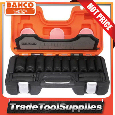 "Bahco 14 Piece 1/2"" Drive Metric Hexagon Deep Impact Socket Set DD/S14"