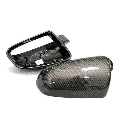 Carbon Fiber Side Wing Rearview Mirror Cover Caps for Audi A3 8P 3Dr/5Dr 06-12