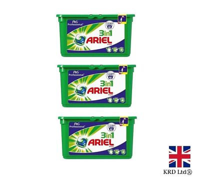 P&G Professional Ariel 3in1 Pods Regular Liquitabs 126 Washes Capsules 3x42 PACK