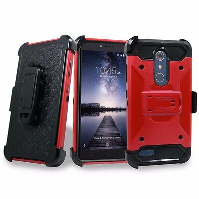 Hybrid Cover Shockproof Case Stand Holster Clip + For ZTE Grand X Max 2 Pro Z981