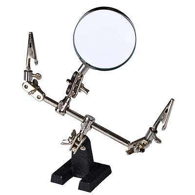 HELPING HAND TOOL MODELING KIT MAGNIFYING GLASS 60mm With Clips New