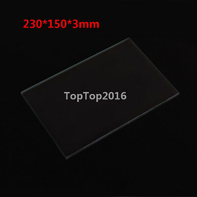 3d Printer heated bed Borosilicate Glass plate 230*150*3mm Print Build Bed
