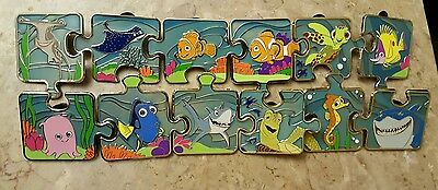Disney FINDING NEMO Character Mystery Puzzle Pin Set with Chasers Limited Editio