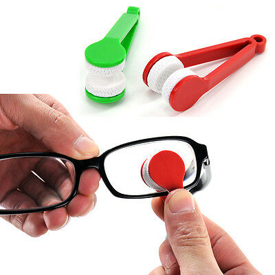 Glasses Cleaning Brush Durable Sunglasses Cloth Tidy Handy ABS Accessories