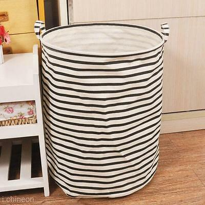 Dirty Clothes Laundry Basket Pouch Linen Washing Hamper Bag Folding Toy Storage