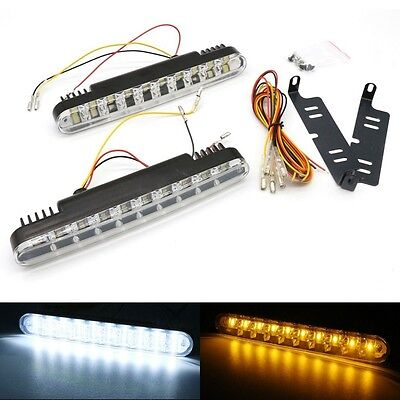 2 X 30 LED DRL Daytime Running Turn Signal Car Truck Indicator Fog Lamp Light UK