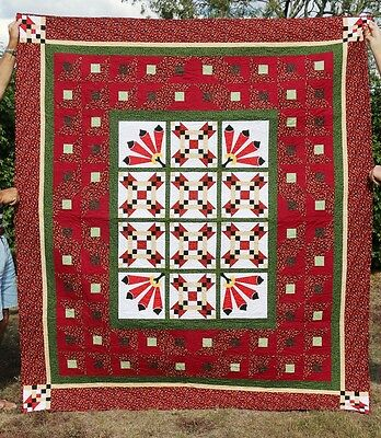 Handmade Double Bed Quilt - Relish