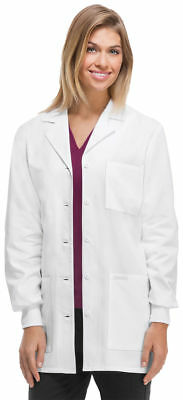Scrubs Cherokee Womens Antimicrobial Lab Coat WHTD White FREE SHIPPING. 1362A