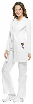 Tooniforms Women's Princess Seams Front Patch Pocket Long Sleeve Lab Coat. TF401