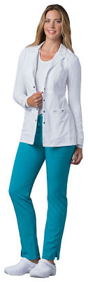 "Dickies Women's New Button Front Long Sleeve Pocket 37"" Lab Coat. 82401"