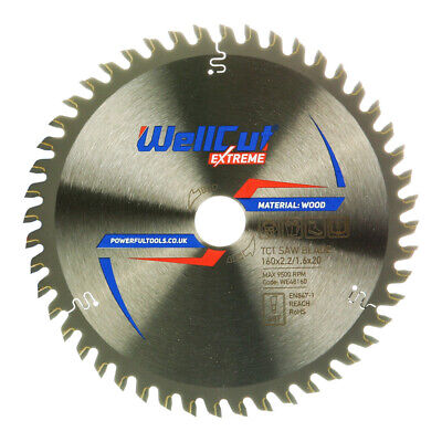 WellCut Extreme TCT Saw Blade 160mm x 28T x 20mm Bore For Festool TS55 Pack of 5