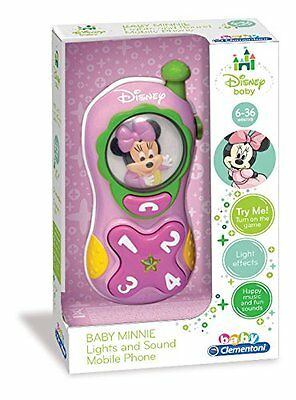 Disney Baby Minnie Mouse Mobile Phone Toy - Sounds - Lights - New