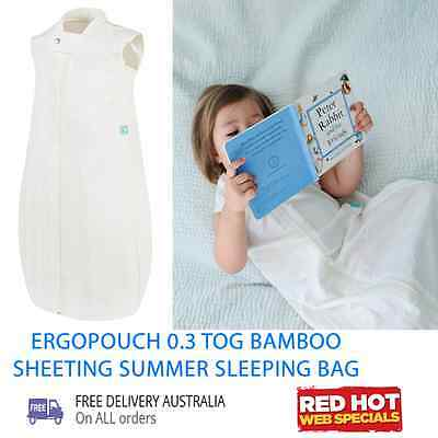 ERGOPOUCH 0.3 TOG BAMBOO SHEETING Natural SLEEPING BAG 12-36 months
