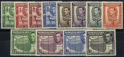 Somaliland Protectorate - SG 93-104 - 1938 - Definitive Set of 12 - Mounted Mint