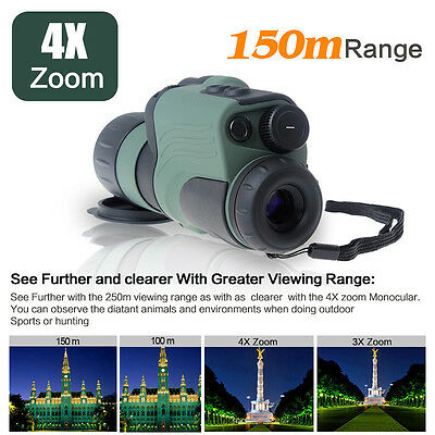 4x50mm Professional Night Vision Device IR Monocular Digital Scope Zoom Outdoor