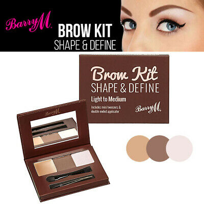 Barry M Brow Kit - 3 Step Define & Highlight Brows With Mirror & Tweezers