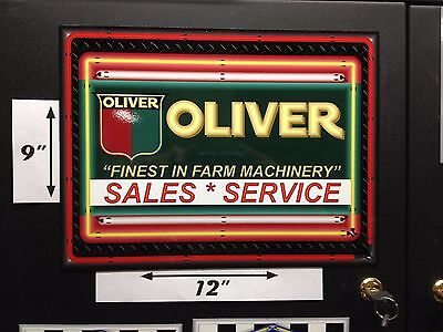 """Oliver Classic Tractor Dealer Style Sign Refrigerator Toolbox Magnet 12"""" X 9"""""""