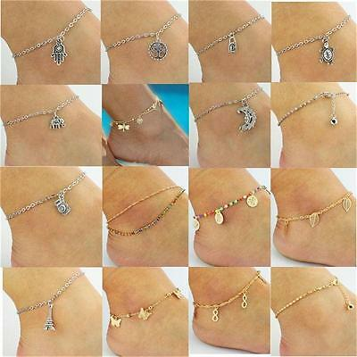 Fashion Women Dangle Charms Anklet Ankle Bracelet Handmade Foot Chain Jewelry